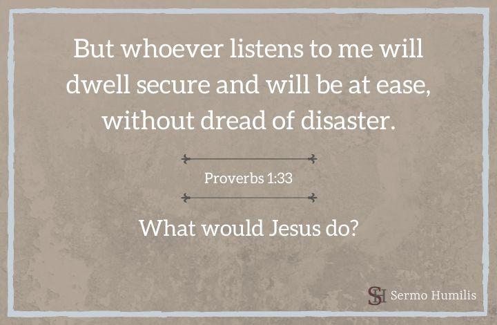 Wisdom Raises Her Voice _ Proverbs 1_33 - Sermo Humilis