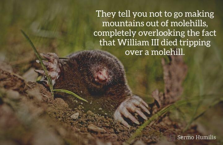 Tripping over a Molehill